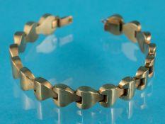 Armband, 20. Jh. 750/- Gelbgold. Gesamtgewicht ca. 18 cm. Einzelglieder in stilisierter