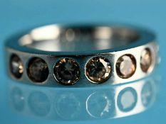 Ring mit 7 Citrinen, bezeichnet Ti Sento, 20. Jh. 925/- Silber. Gesamtgewicht ca. 6,4 g. Massive,