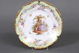 RICHARD KLEMM Porzellanmalerei, Dresden Zierteller um 1888-1819, im Spiegel Darstellung eines