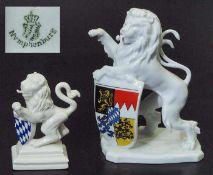 Löwe, klein. NYMPHENBURG. Löwe, klein. NYMPHENBURG. 20. Jahrhundert, Entwurf Ernst Andreas Rauch,