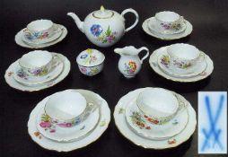 Teeservice für 6 Personen. MEISSEN. Teeservice für 6 Personen. MEISSEN, 1. Wahl, Marke 1934 - heute.