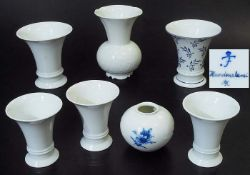 Vasen Konvolut. Vasen Konvolut. FÜRSTENBERG, 20. Jahrhundert. Insgesamt 7 Stück, davon fünf Vasen