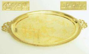 Ovales Tablett. BRUCKMANN & Söhne.Ovales Tablett. BRUCKMANN & Söhne, Heilbronn, Sterlingsilber
