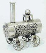 Stilisierte Lokomotive.Stilisierte Lokomotive. 19. Jahrhundert, 12-lötiges Silber punziert.