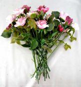 Blumenstrauß 18 Blüten, rosa- und lilafarben