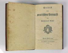 Critik der praktischen Vernunft (18.Jh.) von Immanuel Kant; neue Auflage, Frankfurt und Leipzig