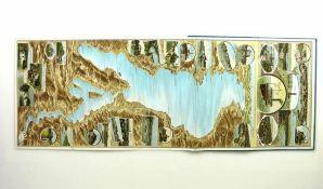 Panorama vom Bodensee (um 1900) aufklappbare Farbdarstellung mit Detailansichten; in Original-