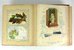 Postkartenalbum mit ca. 110 Ansichtskarten (viel farbige); vorwiegend Südwesten, Bodensee und