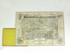 Reisekarte (1855) für die Umgebungen des Bodensee's; von C.F. Baur; Verlag der Pecht'schen