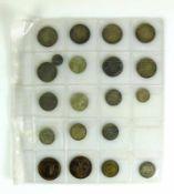 Münzalbum (Ende 19. und 20.Jh.) mit vorwiegend deutschen Münzen; Silber, Kupfer, Messing