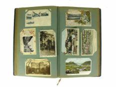 Postkartenalbum (Anfg. 20.Jh.) mit ca. 220 Karten; vorwiegend Südwestdeutschland und Frankreich;