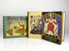 3 div. Kinderbücher 2x Kasperle, 1x Peter Quack; alle 1.H.20.Jh.;