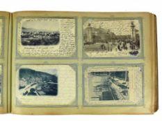 Postkartenalbum (Ende 19. - 1.H.20.Jh.) mit ca. 590 meist farbige Ansichtskarten; vorwiegend
