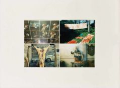 HEINZ CIBULKA (1943 WIEN) PROJEKT AM THEATER VON HERMANN NITSCH, 1983 4 Fotografien in Farbe,
