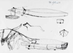 BRUNO GIRONCOLI (1936 VILLACH - 2010 WIEN) HUNDEDERBY, ENTWURF-KONZEPT, 1997 Zweifarbiger