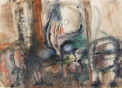 KARL KREUZBERGER (1916 WIEN - 1990 WIEN) o. T., 1969 Aquarell auf Papier, 41 x 58 cm, Passepartout
