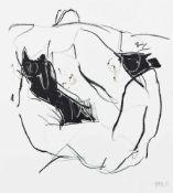 HANNES MLENEK (1949 WR. NEUSTADT) o. T., 2014 Mischtechnik auf Papier, 35 x 31 cm gerahmt, Maß mit