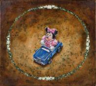SEBASTIAN WEISSENBACHER (1959 EGGENBURG) MINNY, 1999 Acryl auf Leinwand, 40 x 45 cm Bezeichnung
