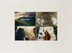 HEINZ CIBULKA (1943 WIEN) PROJEKT AM THEATER VON HERMANN NITSCH, 1981 4 Fotografien in Farbe,