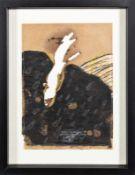 GERHARD GEPP (1940 PRESSBAUM/WIEN) o. T. Mischtechnik und Säure auf Packpapier, 30 x 22 cm