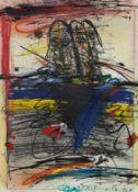 FRANZ RINGEL (1940 GRAZ - 2011 GRAZ) o. T., 2000 Mischtechnik auf Radierung, 31,5 x 23 cm gerahmt,