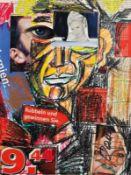 PADHI FRIEBERGER (1931 WIEN - 2016 WIEN) o. T. Collage auf Papier, 40 x 30 cm, Passepartout gerahmt,