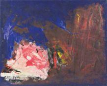PADHI FRIEBERGER (1931 WIEN - 2016 WIEN) o. T. Öl auf Leinwand (Collage, Farbe, Papier), 80 x 100 cm