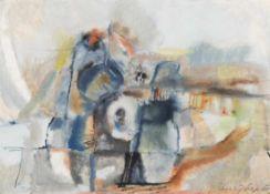 KARL KREUZBERGER (1916 WIEN - 1990 WIEN) o. T., 1968 Aquarell auf Papier, 41 x 58 cm, Passepartout
