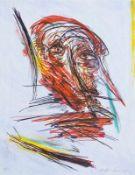 FRANZ RINGEL (1940 GRAZ - 2011 GRAZ) FLIEGENDER KOPF, 2005 Farbradierung, 65 x 50 cm, ungerahmt Werk