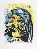 JONATHAN MEESE (1970 TOKIO) EXPLOSION, 2006/2011 Lithografie auf Somerset, handcoloriert, 75,5 x