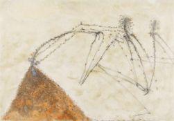 WALTER SCHMÖGNER (1943 WIEN) KOPF IM AMEISENHAUFEN, 1980 Mischtechnik auf Papier, 41,5 x 59,5 cm