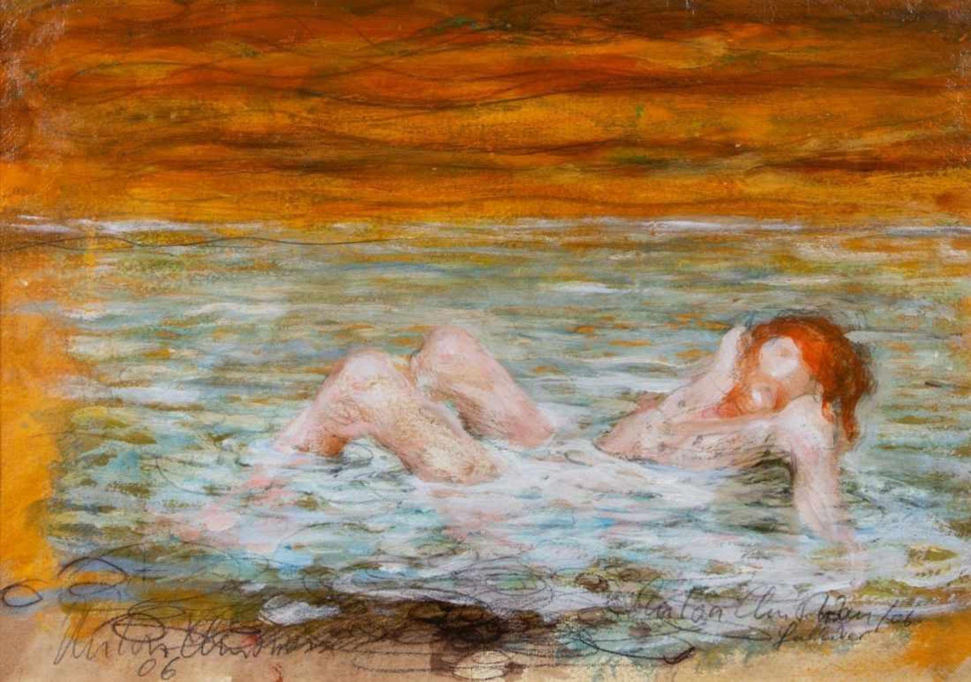 ANTON CHRISTIAN(1940 INNSBRUCK)GULLIVER, 2006Mischtechnik, Öl auf Papier, 36 x 51,5 cm,