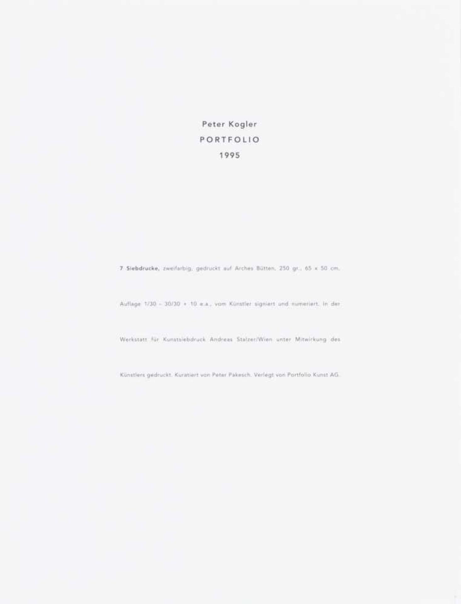 PETER KOGLER(1959 INNSBRUCK)PORTFOLIO (Ameisen), 1995Sieben zweifarbige Siebdrucke auf Arches