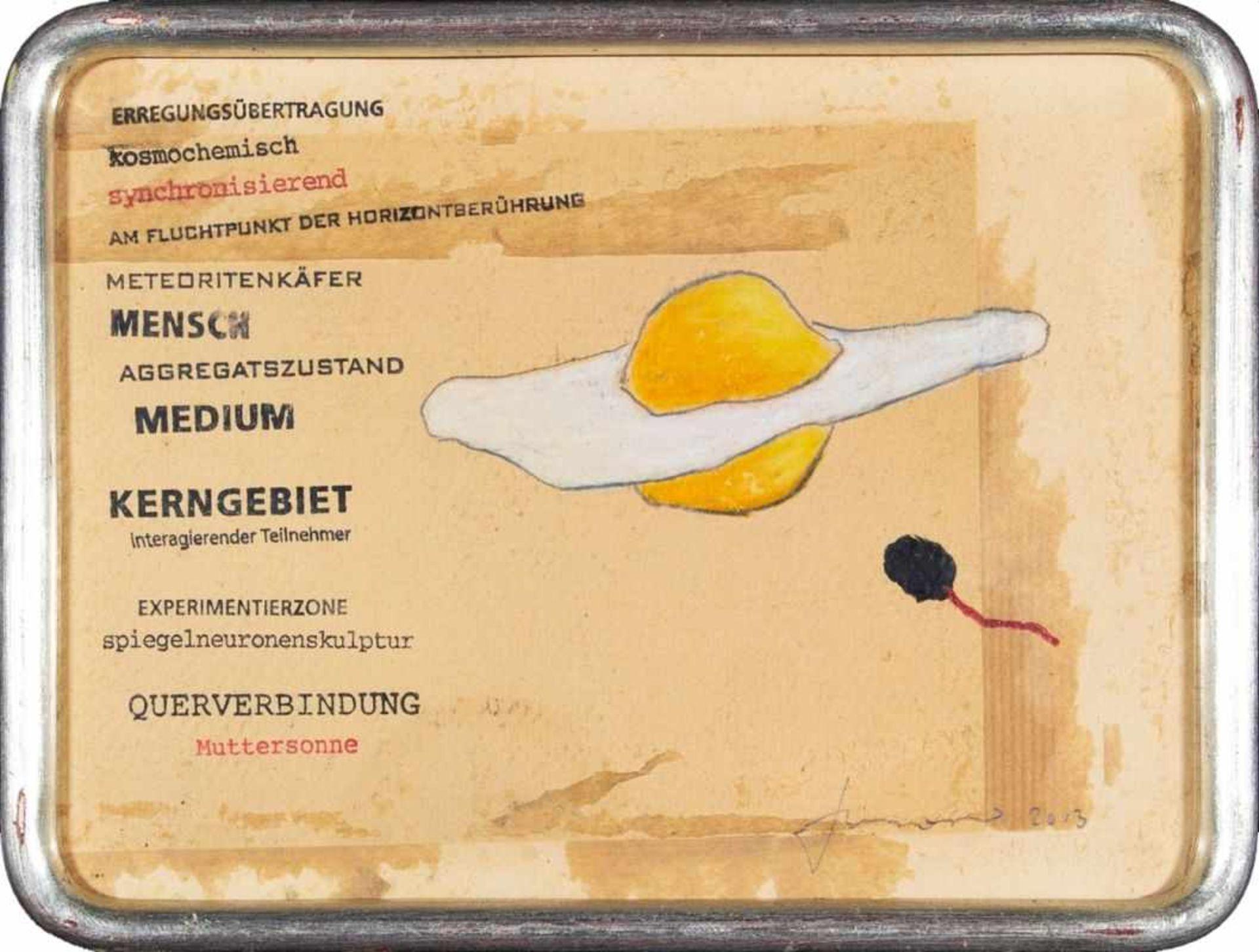 Los 57 - BARBARA ANNA HUSAR(1975 FELDKIRCH)METEORITENDOTTER, 2013Buntstift, Stempel auf Karton, 19,2 x 25,3