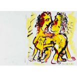 OTTO MUEHL(1925 GRODNAU - 2013 MONCARAPACHO)o. T., 1985Mischtechnik auf Papier, 29,5 x 41,5 cm,
