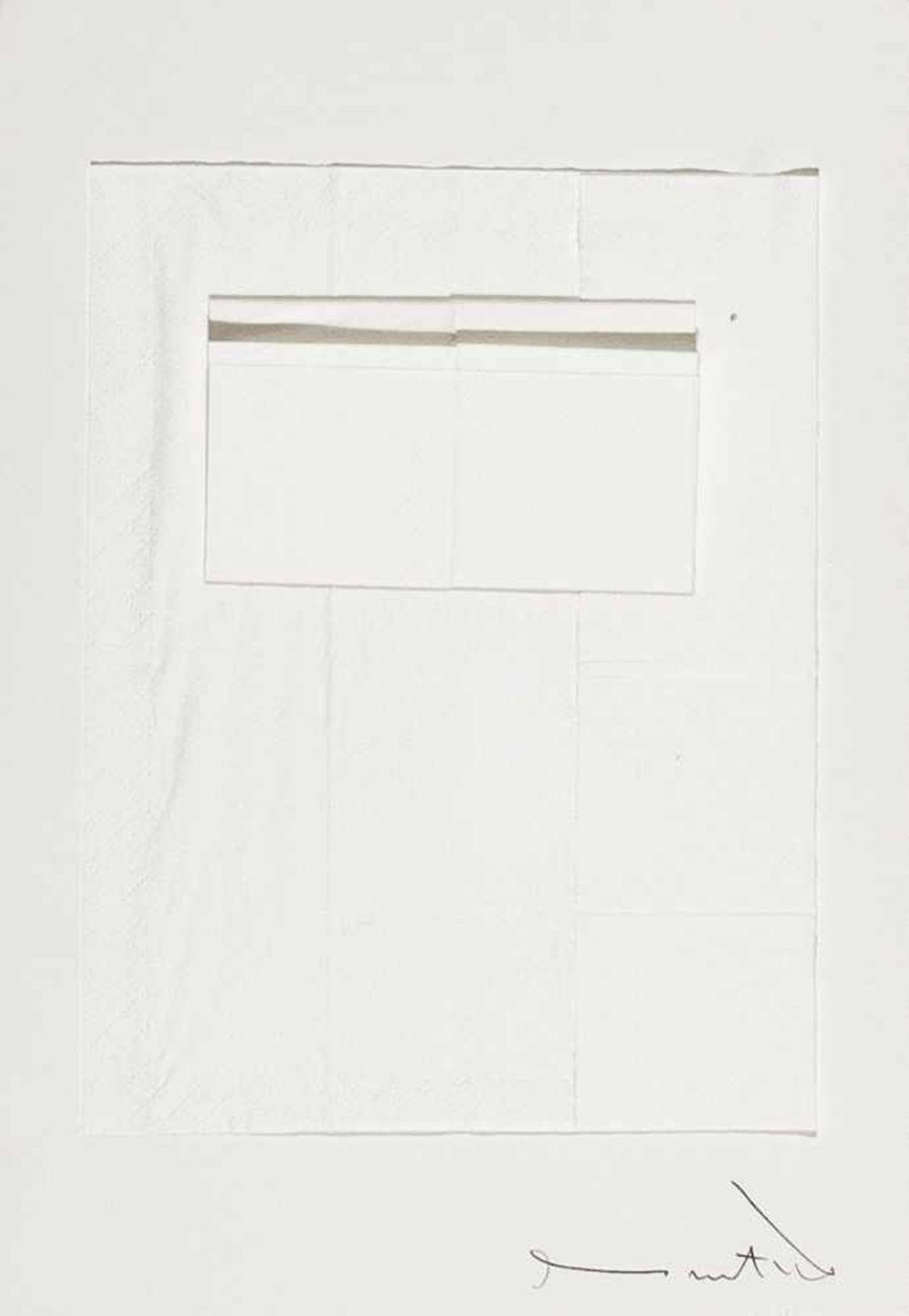 Los 33 - HERMANN NITSCH(1938 WIEN)o. T., 1972Papiertaschentücher auf weißem Karton, 21 x 30