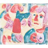 MIKLOS NEMETH(1934 BUDAPEST - 2012 BUDAPEST)o. T.Gouache auf Karton, 29,5 x 34,5 cm,Passepartout,