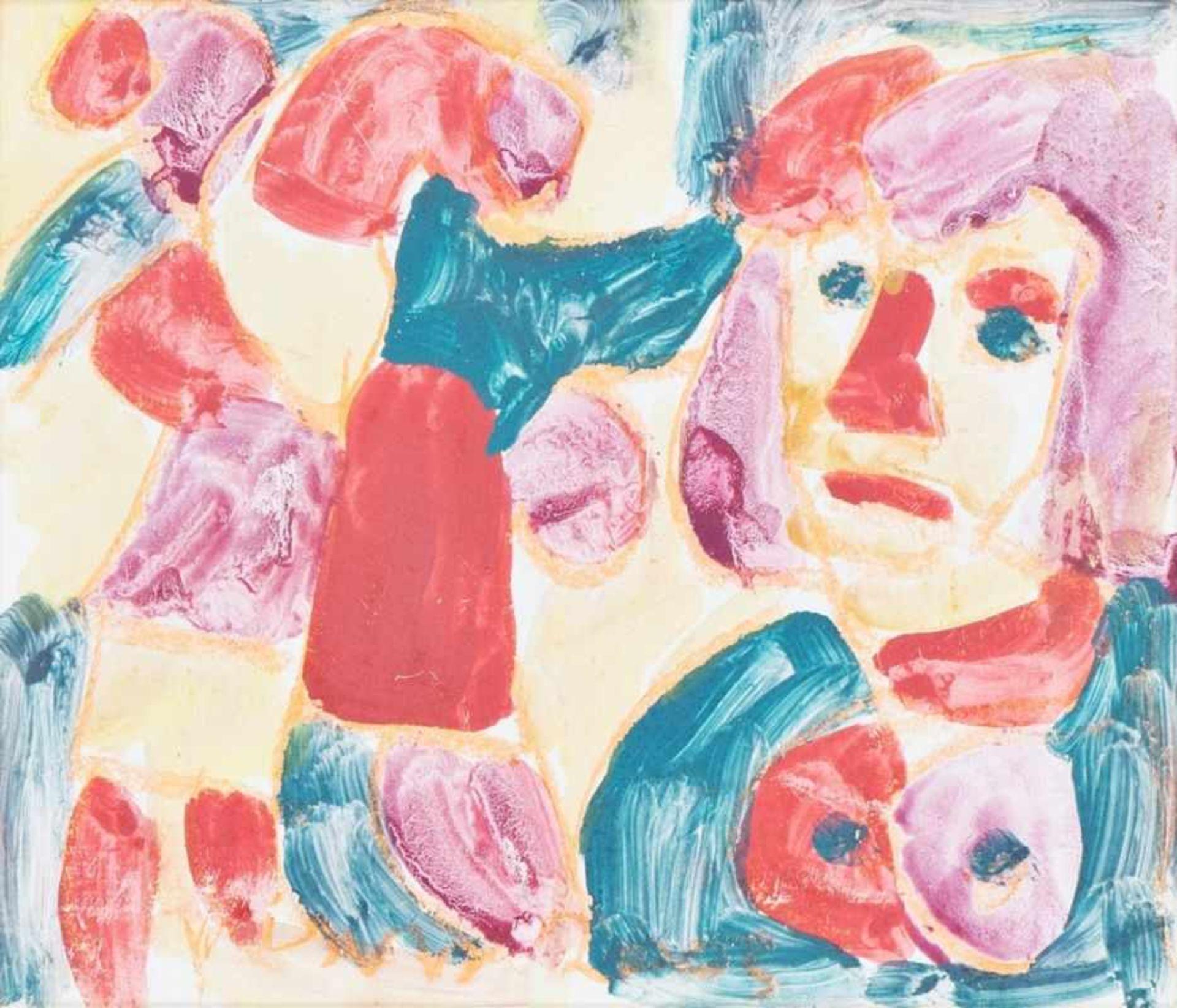 Los 46 - MIKLOS NEMETH(1934 BUDAPEST - 2012 BUDAPEST)o. T.Gouache auf Karton, 29,5 x 34,5 cm,Passepartout,