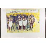 FRANZ WEST(1947 WIEN - 2012 WIEN)3 BASTLERCollage, Zwei Siebdrucke auf Papier auf Karton, ca. 77 x