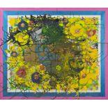 PADHI FRIEBERGER(1931 WIEN - 2016 WIEN)DIE ERSTARRTE BEWEGUNGAcryl, Collage auf Leinwand, 130 x
