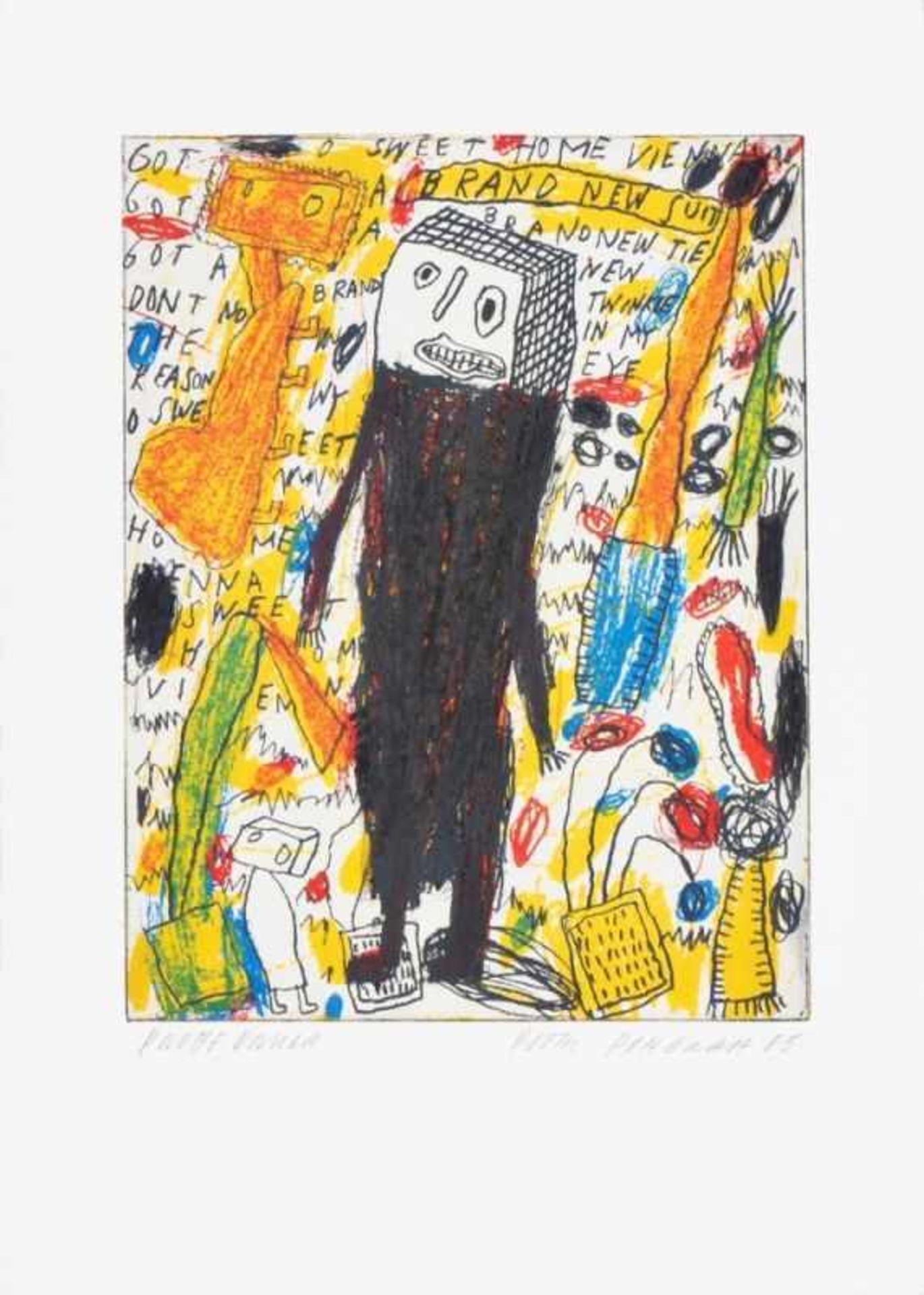 PETER PONGRATZ(1940 EISENSTADT)o. T., 2005Farbradierung auf Bütten, Plattengröße: 28,5 x 22
