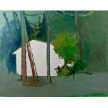 ALOIS MOSBACHER(1954 STRALLEGG)o. T., 2005Öl auf Leinwand, 80 x 100 cmSignatur Rückseite links oben: