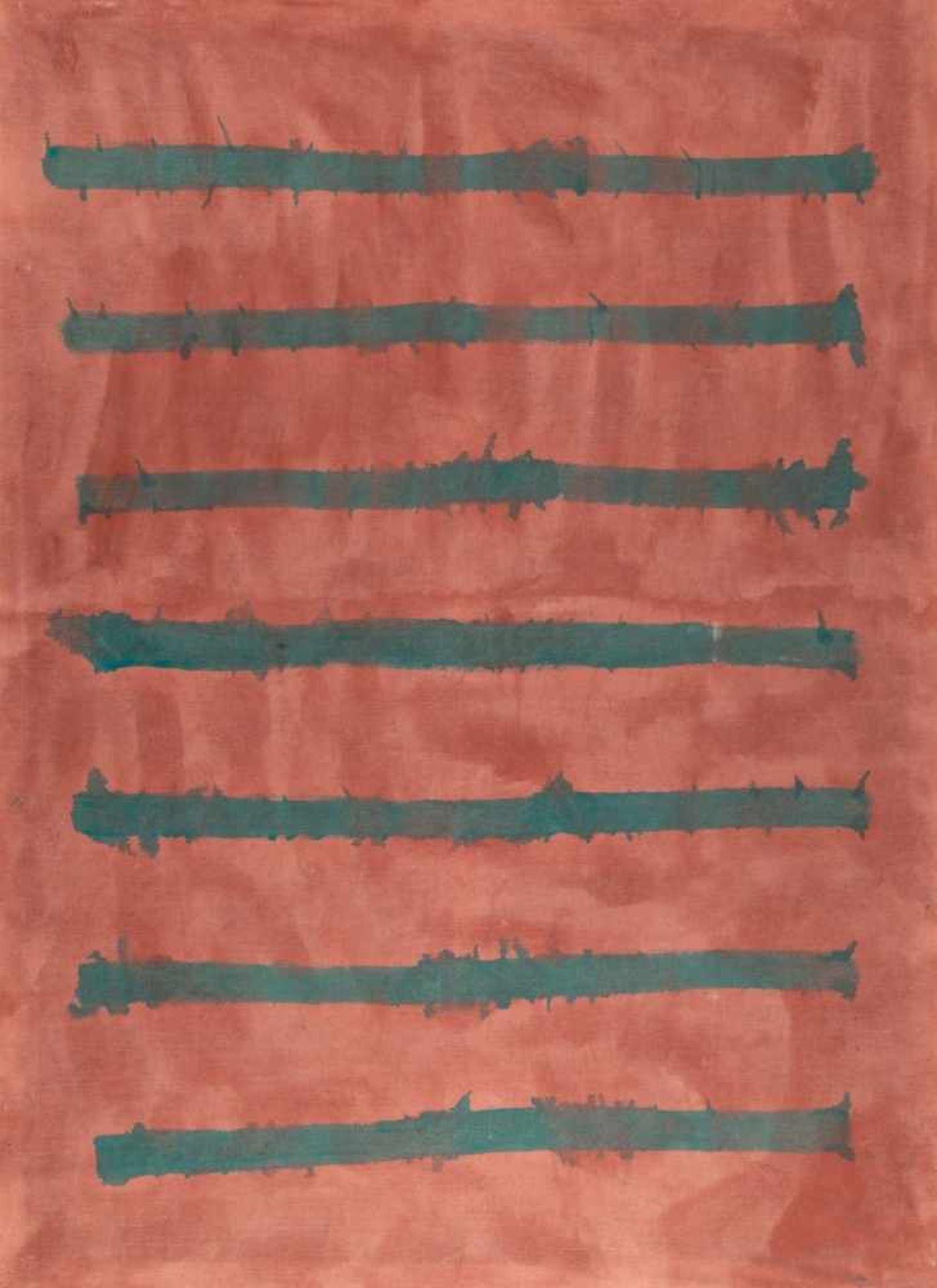 Los 9 - OSWALD OBERHUBER(1931 MERAN)o. T., 1985Öl auf Molino, 196 x 145 cmgerahmt, Maß mit Rahmen: 198 x 147