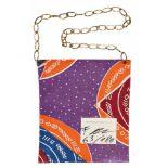FRANZ WEST(1947 WIEN - 2012 WIEN)POUCH FOR PARKETT, 1993Afrikanisches Textil (Tasche), Kette, ca