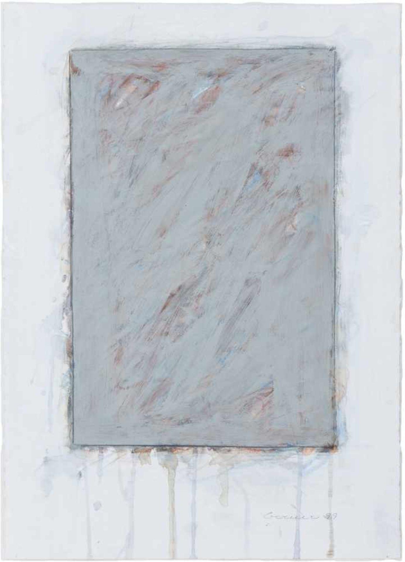 Los 23 - BERND BERNER(1930 BERGEDORF - 2002 STUTTGART)o. T. (Flächenraum), 1999Acryl, Aquarell, Pastell auf