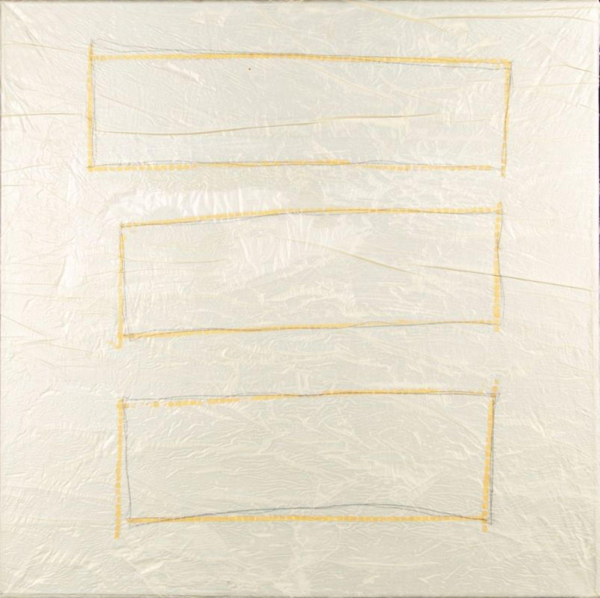 RUDI STANZEL(1958 LINZ)THEO D'ORO, 1997Mischtechnik auf Papier/Leinwand, 70 x 70 cmSignatur