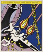 ROY LICHTENSTEIN(1923 NEW YORK - 1997 NEW YORK)AS I OPENED FIRE, 1963Triptychon, Offsetlithografie,