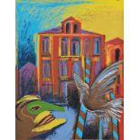 ALFRED KORNBERGER(1933 WIEN - 2002 WIEN)o. T.Siebdruck auf Bütten, 65,5 x 50,5 cmungerahmtSignatur