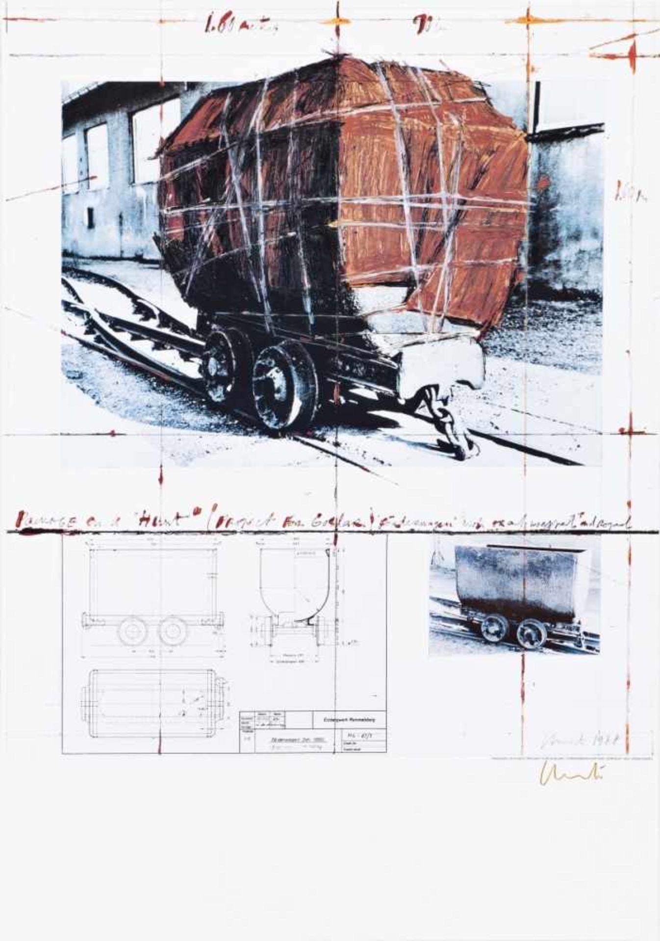 CHRISTO JAVACHEFF(1935 GABROVO)PACKAGE ON A HUNT, 1988Farblithografie auf festem Kartonpapier, 100 x