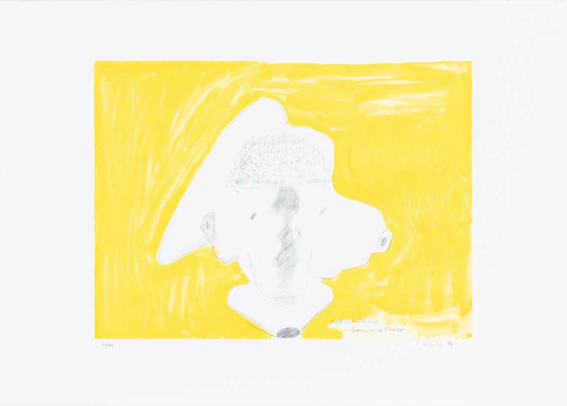 MARIA LASSNIG(1919 KAPPEL AM KRAPPFELD - 2014 WIEN)KOPF MIT OHREN GOMERA = MEXICO, 1999Lithografie